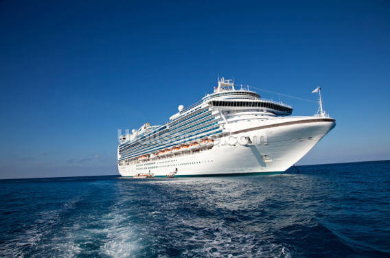 Cruise Ship in Caribbean Sea Wallpaper Wall Murals