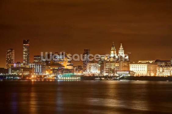 Liverpool at Night Wallpaper Wall Murals