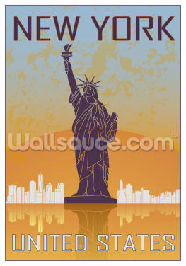Vintage New York Wallpaper Wall Murals