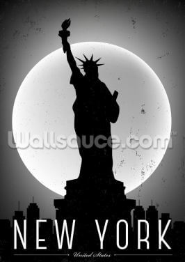New York Moonlight Wallpaper Wall Murals