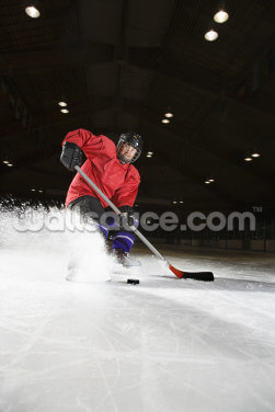 Woman Playing Ice Hockey Wallpaper Wall Murals