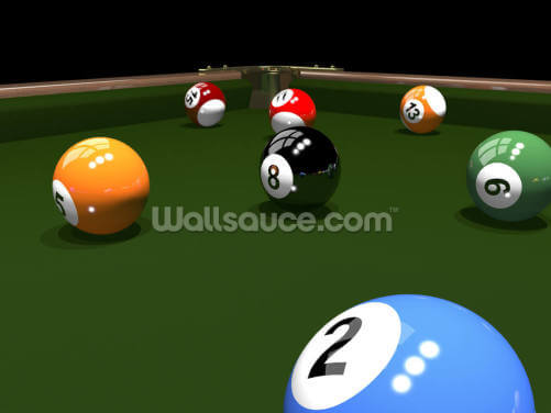 The Game of Billiards Wallpaper Wall Murals