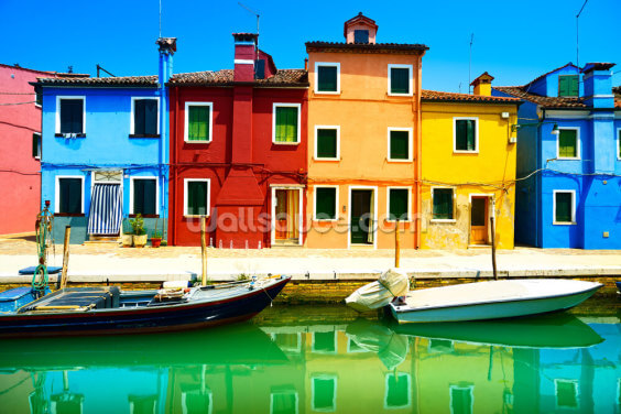 Burano Island Wallpaper Wall Murals