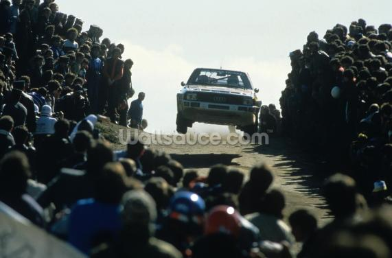 Group B Rally Car and Fans, Portugal 1985 Wallpaper Wall Murals