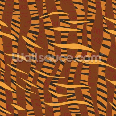 Stripes - Tiger Skin Wallpaper Wall Murals