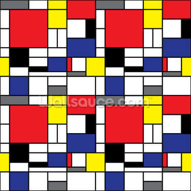 Mondrian Wallpaper Wall Murals