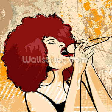 Jazz Singer Wallpaper Wall Murals
