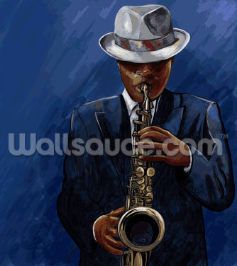 Saxophonist Wallpaper Wall Murals