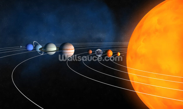 Complete Solar System Wallpaper Wall Murals