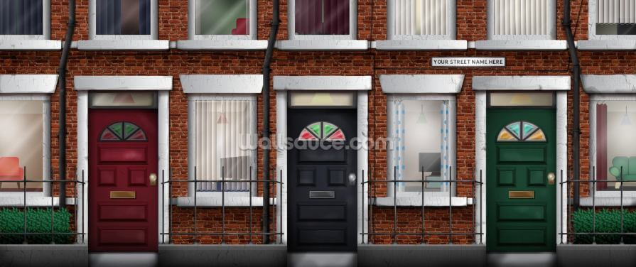 Terraced Houses Wallpaper Wall Murals