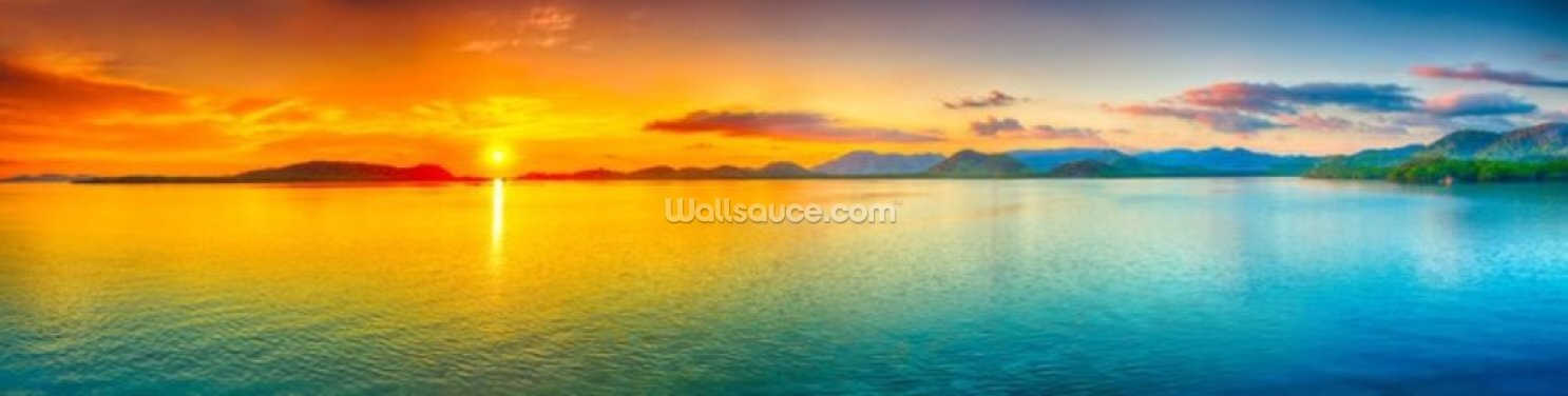 Panoramic Sunset Wallpaper Wall Murals