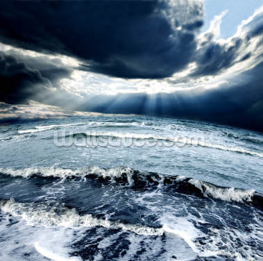 Ocean Storm Wallpaper Wall Murals