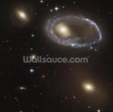 Blue Stars Ring Nucleus of Galaxy AM 0644-741 Wallpaper Wall Murals