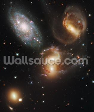 Galactic Wreckage in Stephan's Quintet Wallpaper Wall Murals