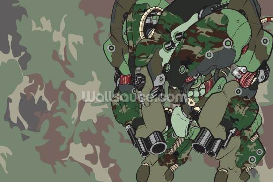 Camo Protection Bot (2012) Wallpaper Wall Murals