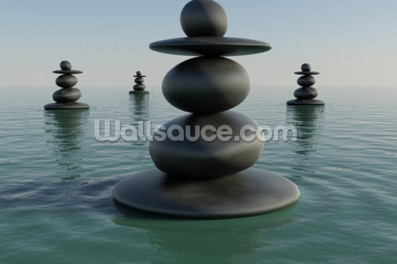 Zen Pebble Stacks Wallpaper Wall Murals