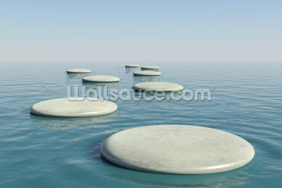 Zen Stepping Stones Wallpaper Wall Murals