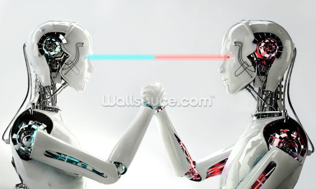 Robot Men in Competition Wallpaper Wall Murals