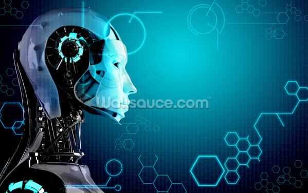 Robot Background Wallpaper Wall Murals