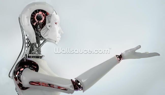 Robot Android Women Wallpaper Wall Murals