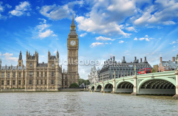 Westminster Bridge and Houses of Parliament Wallpaper Wall Murals