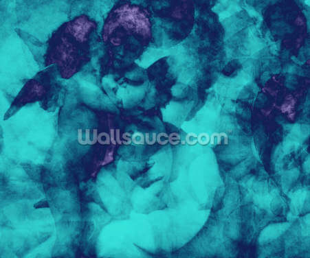 Softly Softly Turquoise Wallpaper Wall Murals