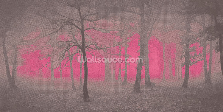 Delusion - Pink Wallpaper Wall Murals