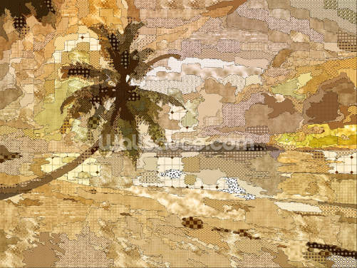 Seychelles Sepia Wallpaper Wall Murals