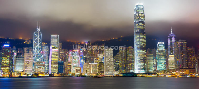 Hong Kong Skyline Wallpaper Wall Murals
