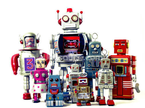Robots Wallpaper Wall Murals