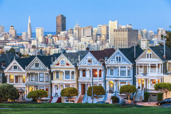 Victorian Houses, San Francisco Wallpaper Wall Murals