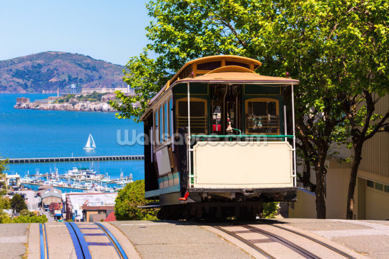 San Francisco Street Car Wallpaper Wall Murals