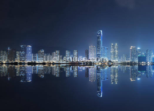 Hong Kong City Night Wallpaper Wall Murals