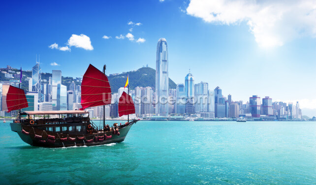Hong Kong Harbour Wallpaper Wall Murals