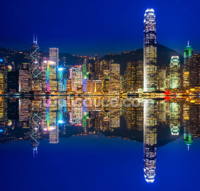 Hong Kong Lights at Night Wallpaper Wall Murals