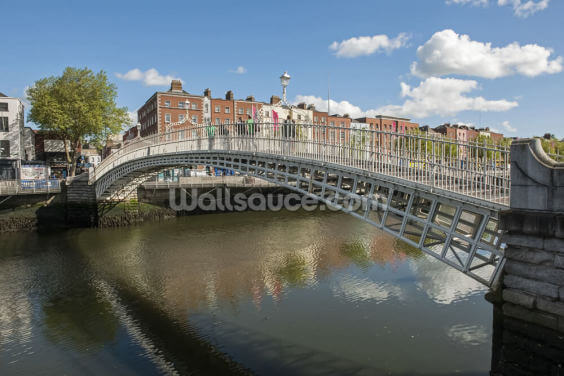 Hapenny Bridge in Dublin Wallpaper Wall Murals