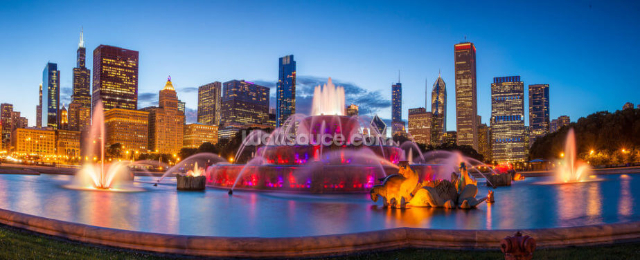 Buckingham Fountain Wallpaper Wall Murals