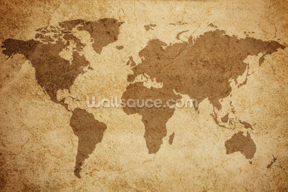 Textured World Map Wallpaper Wall Murals