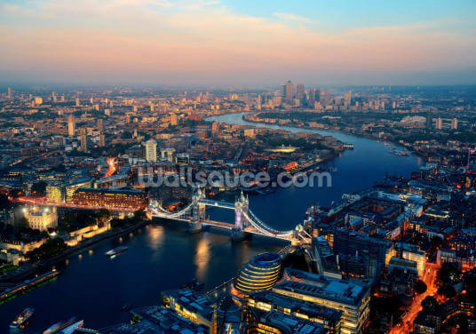 Aerial of London Wallpaper Wall Murals