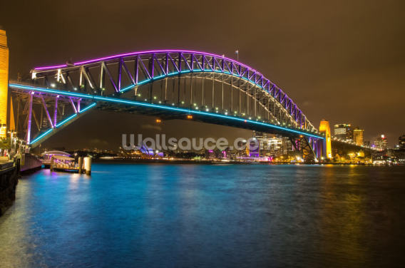 Sydney Harbour Bridge at Night Wallpaper Wall Murals