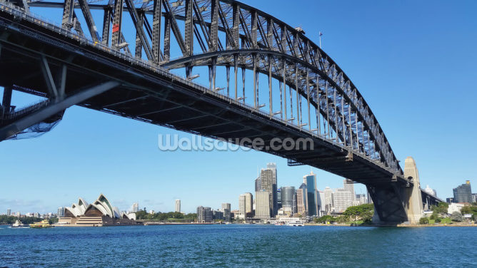 Sydney's Harbour Bridge Wallpaper Wall Murals
