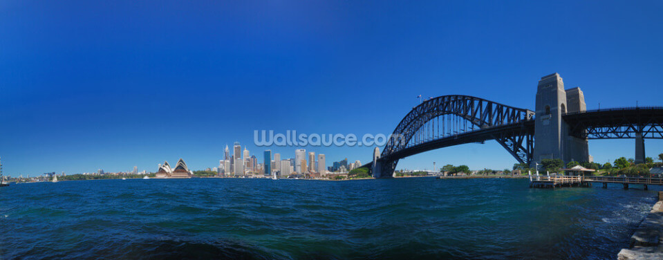 Sydney Harbour Skyline Panorama Wallpaper Wall Murals