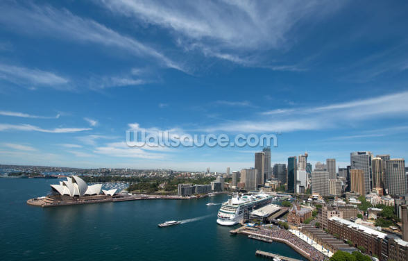 Sydney Skyline and Opera House Wallpaper Wall Murals