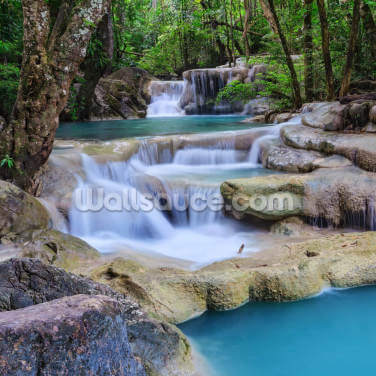 Erawan Waterfall, Kanchanaburi Wallpaper Wall Murals
