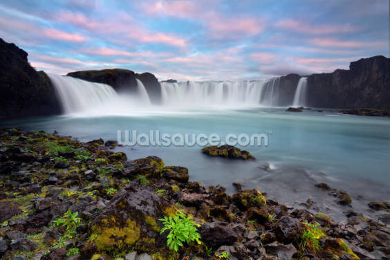 Waterfall of The Gods, Iceland Wallpaper Wall Murals