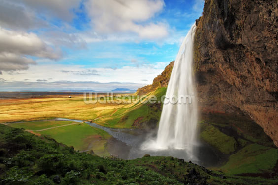 Seljalandsfoss Waterfall, Iceland Wallpaper Wall Murals