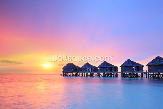 Maldives Water Villas Wallpaper Wall Murals