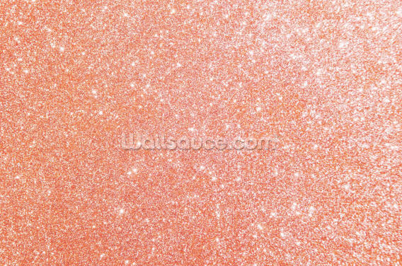 Pretty as a Peach Glitter Wallpaper Wall Murals