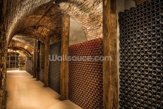Wine Tunnel Wallpaper Wall Murals