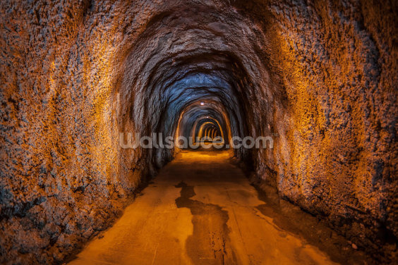 Cave Tunnel Wallpaper Wall Murals